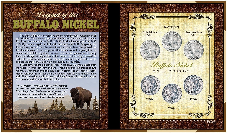American Buffalo Buffalo Nickel Collector Frame With Coins