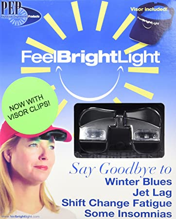 Deluxe Feel Bright Light Portable Light Therapy Device with Visor u0026  Rechargable Battery and Charger