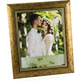 """WoodArt Crafted Wooden Picture Frame (8x10"""", Antique Gold)"""