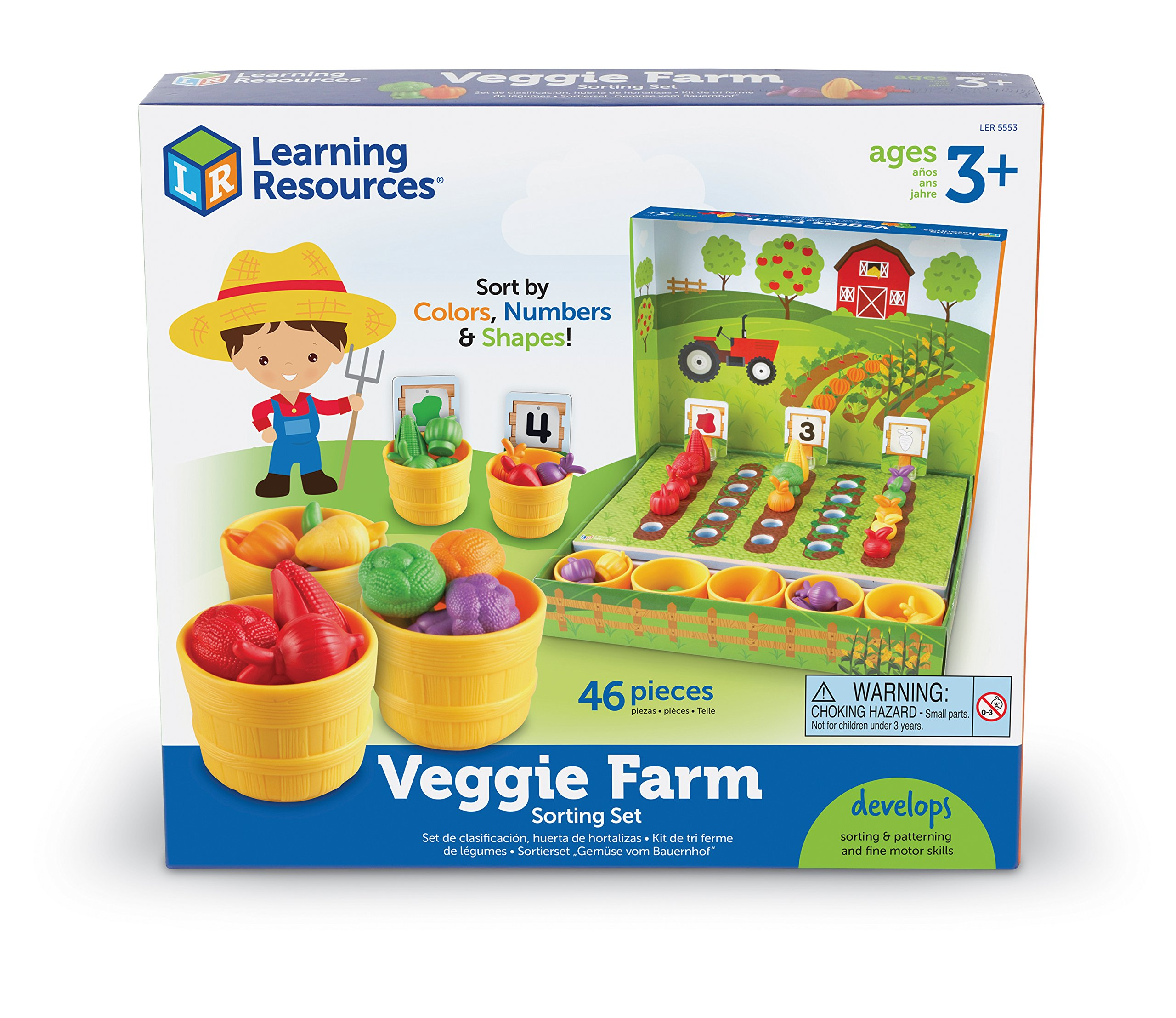 Learning Resources Veggie Farm Sorting Set, 46 Pieces