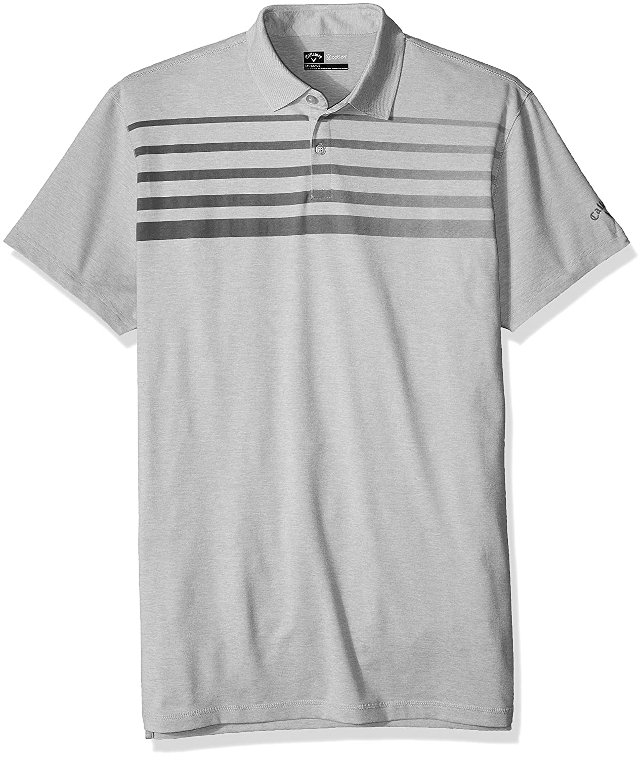 4a06379792124 Callaway Men s Big   Tall Polo Tee with Fade Printed Chest Stripes   Amazon.in  Sports