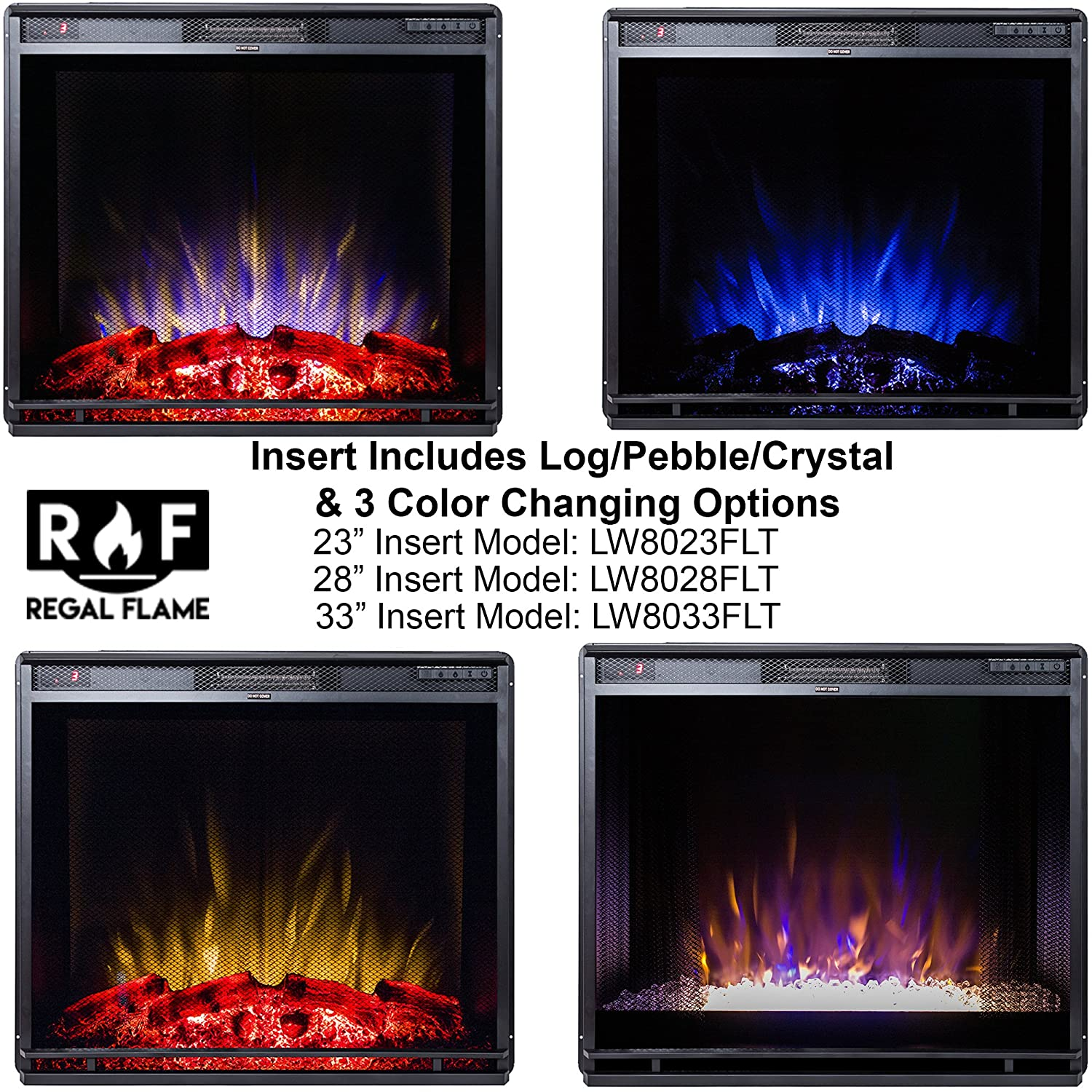 amazon com regal flame 28 flat ventless heater electric fireplace