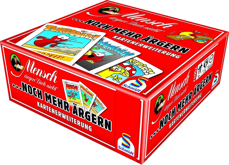 Schmidt Spiele Mensch ärgere Dich Nicht, Rote Kartenerweiterung: Amazon.es: Juguetes y juegos
