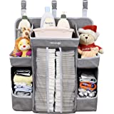 Minnebaby Baby Nursery Organizer and Diaper Caddy Organizer, Hanging Changing Table Diaper Stacker for Crib Storage and…