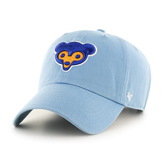 finest selection 6ac34 d02f2  47 MLB Chicago Cubs Cooperstown Clean Up Adjustable Hat, One Size,  Columbia Logo