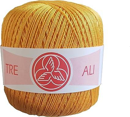 Ovillos de algodón medir 8 (100g) para ganchillo o crochet: Amazon ...