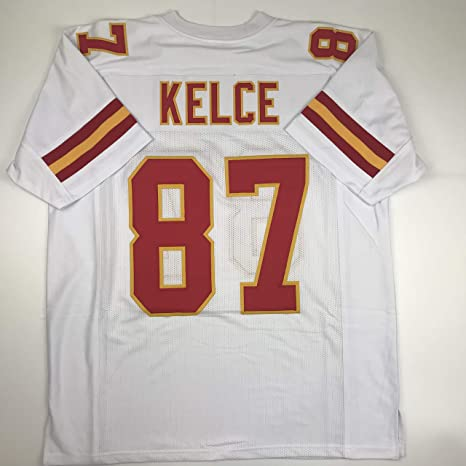 9d93a5ea055 Unsigned Travis Kelce Kansas City White Custom Stitched Football Jersey  Size Men's XL New No Brands