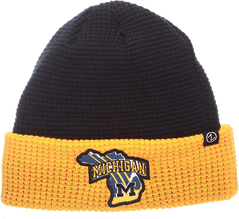 Adjustable Team Color NCAA Zephyr Michigan Wolverines Mens Thermal Beanie
