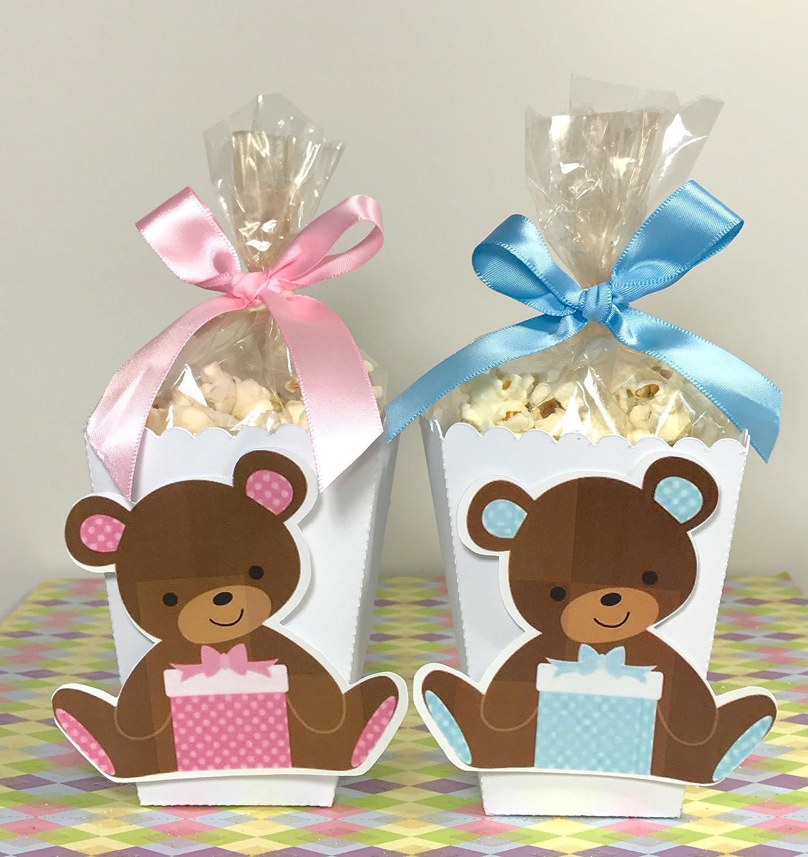 Amazon.com: 12 Mini Popcorn Box Party Favors, Popcorn Boxes, Baby shower  Teddy Bear TREAT BOX: Handmade