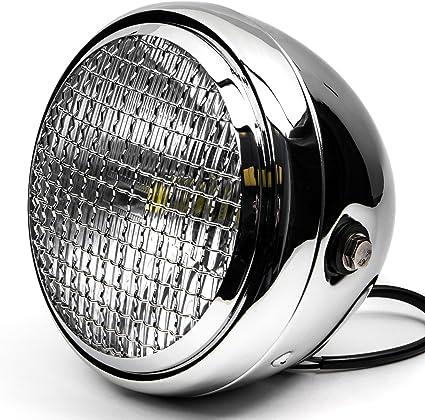 Krator 7 Black LED Motorcycle Headlight w//Side Mounting Running Light High//Low Beam