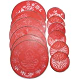 Style up Rangoli Stencil for Making Rangoli for Festive Decorations, Home Décor, Other Celebrations etc: Stencil Dia Set of 12