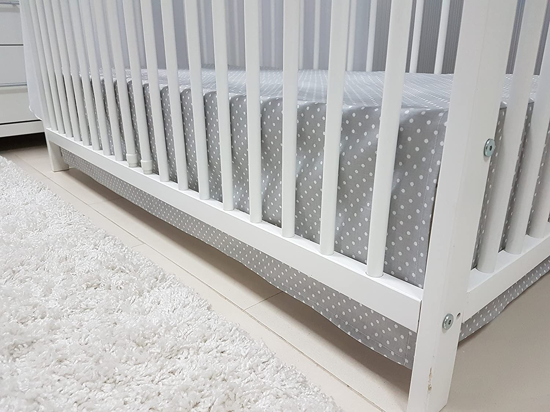 Babymajawelt/® Parure de lit de b/éb/é de 4/pi/èces pour lit de b/éb/é de 70/x 140/cm baldaquin, moustiquaire housse de couette 100/x 135 cm ciel tour de lit