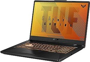 "ASUS TUF Gaming F17 Gaming Laptop, 144Hz 17.3"" FHD IPS-Type Display, Intel Core i5-10300H, GeForce GTX 1650 Ti, 8GB DDR4, 512GB PCIe SSD, RGB Keyboard, Windows 10, Bonfire Black, FX706LI-ES53"