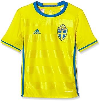Adidas Svff H JSY Y Camiseta 1ª Equipación Línea Asociación Sueca de Fútbol, Niños: Amazon.es: Deportes y aire libre