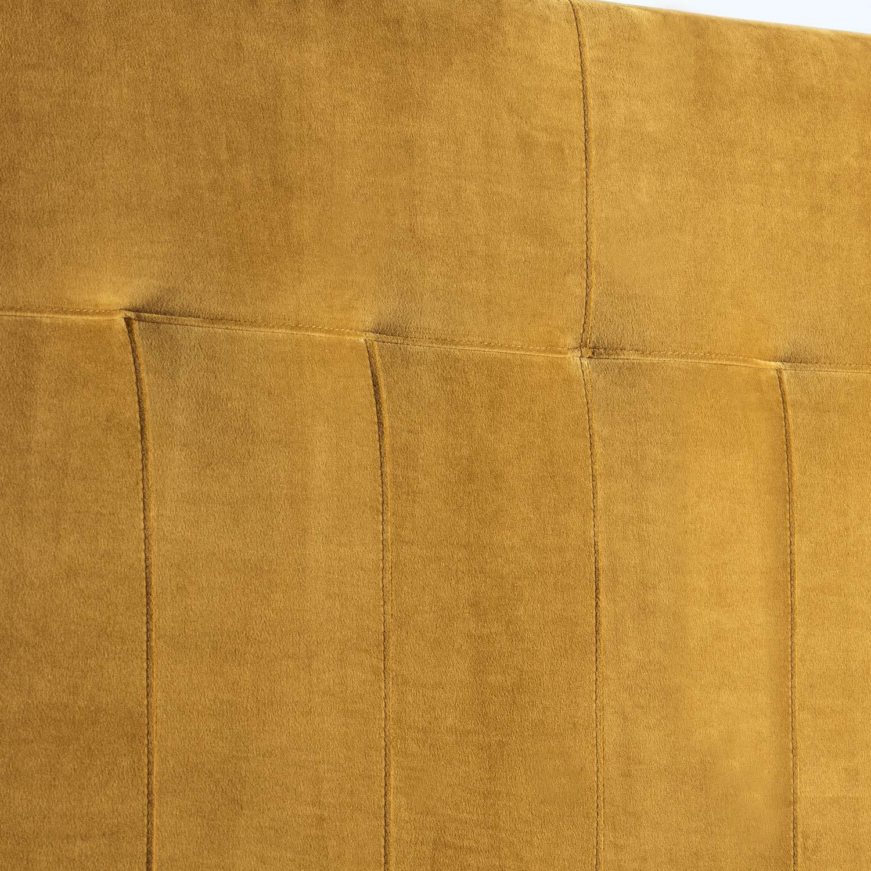 marcKonfort T/ête de lit tapiss/ée Napoles 160X100 cm Bleu Velours pour Couchage de 160 quaincaillerie Incluse Pieds en Bois