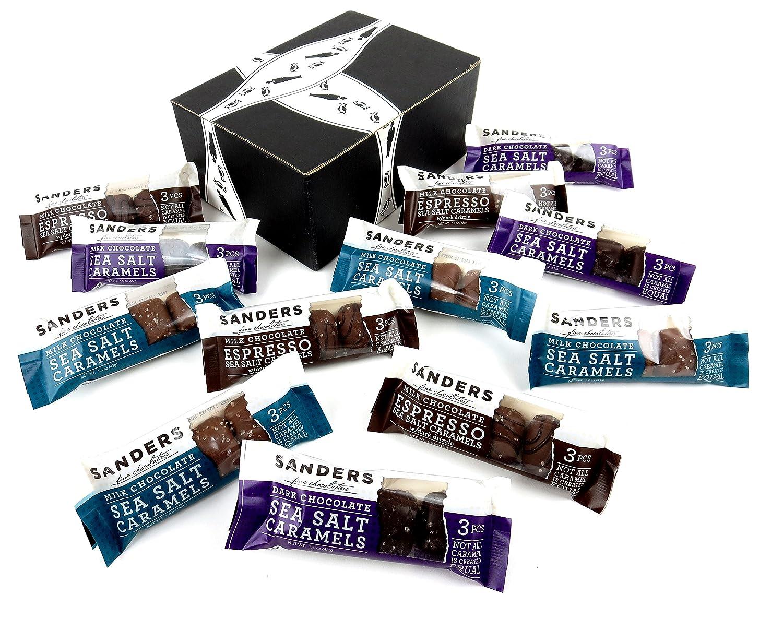 Amazon.com : Sanders Chocolate Sea Salt Caramels 3-Flavor Variety ...