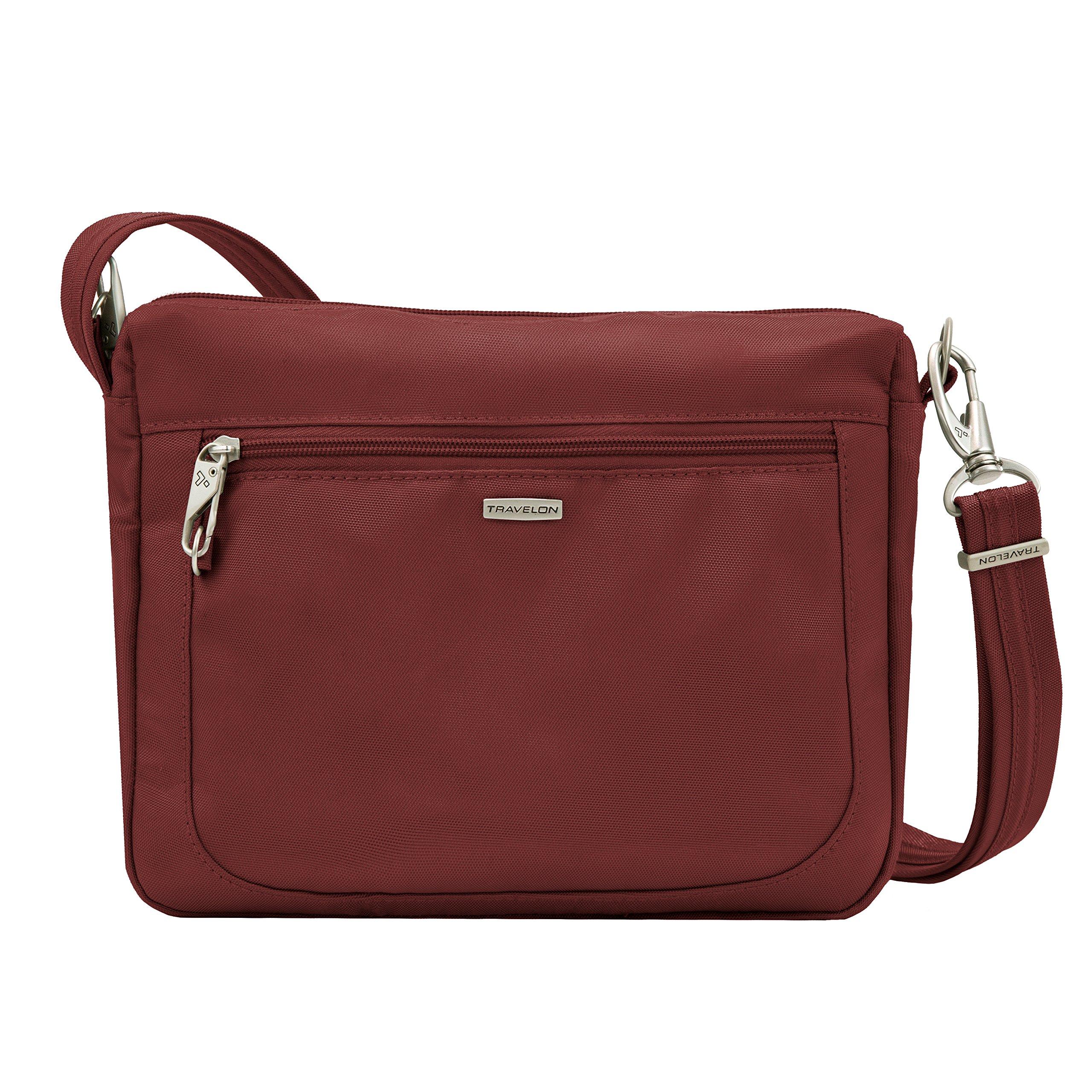 Travelon Anti-theft Classic Small E/W Cross Body Bag, Wine