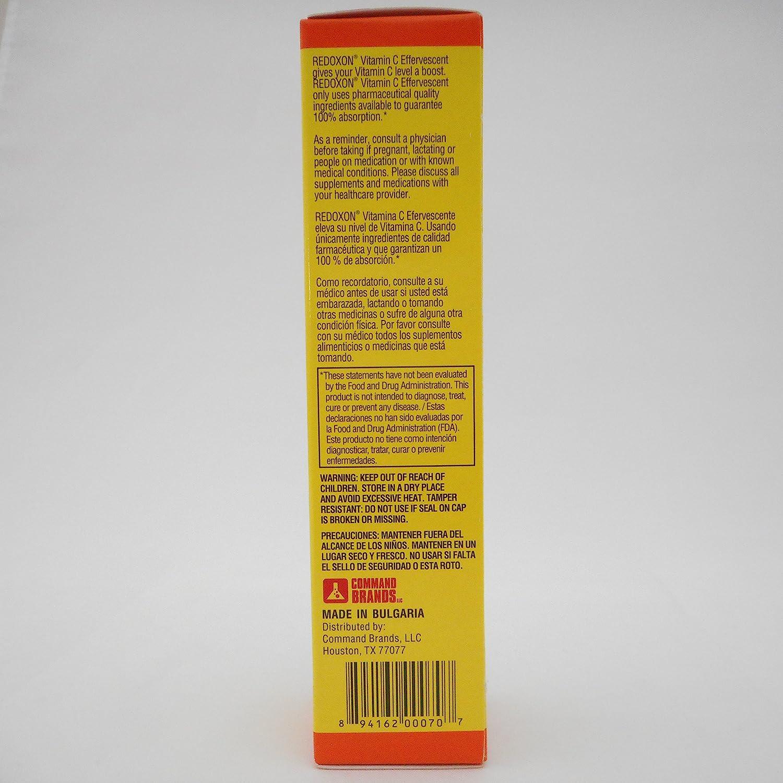 Amazon.com: Redoxon Orange Flavored Vitamin C Effervescent Tablets 20 ea (Pack of 2): Health & Personal Care