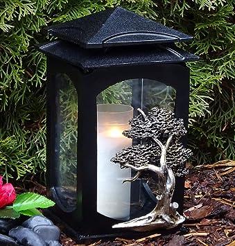 Grablaterne Grablampe Massiv Granit Grableuchte Grablicht Kerze Grabschmuck NEU