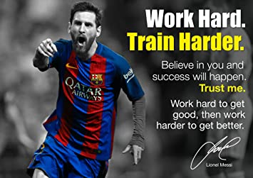 Lionel Messi Poster   Motivational Inspirational Footballer Quotes Poster #  21   A4 Poster / Print