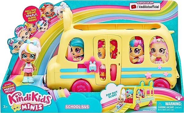 Kindi Kids Minis Collectible School Bus doll playset