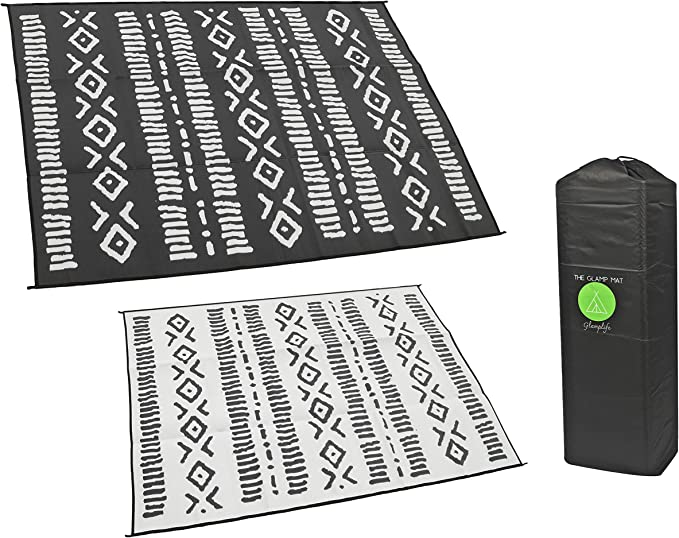 Reversible Camping RV-National Monuments USA Camping Sites Outdoors Place Mat  Placemat w Insul-Brite