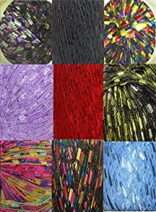 135 Yards 9 Colors Ladder Trellis Yarn for 9 Necklaces Mix lot (mix6)