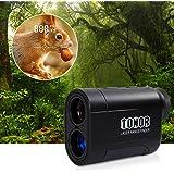 TONOR Golf Laser Rangefinder/Range Finder with Pinsensor/Binoculars, Water Resistant/Free Battery for Hunting Outdoor Activities Black