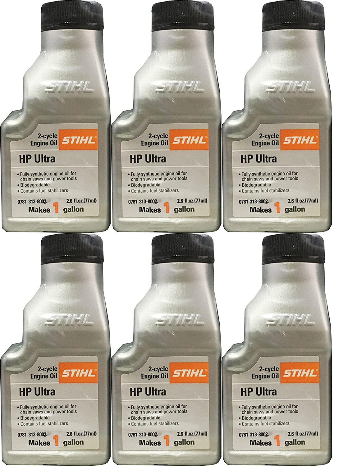 STIHL 0781 313 8002 2.6 Ounce High Performance Ultra 2 Cycle Engine Oil, 6 Pack