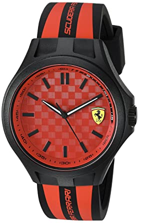3b4d2f6ab52 Image Unavailable. Image not available for. Color  Scuderia Ferrari Men s  Quartz Watch with Silicone Strap