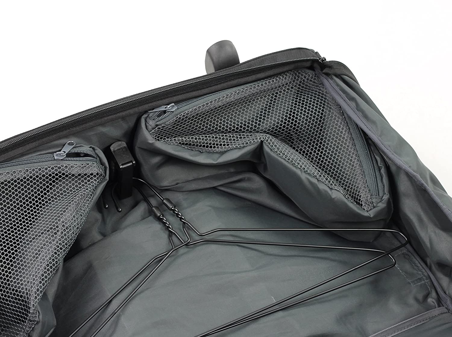 carrier on wheels. rock carry-on tri-fold garment carrier on wheels with removable laptop sleeve: amazon.co.uk: luggage