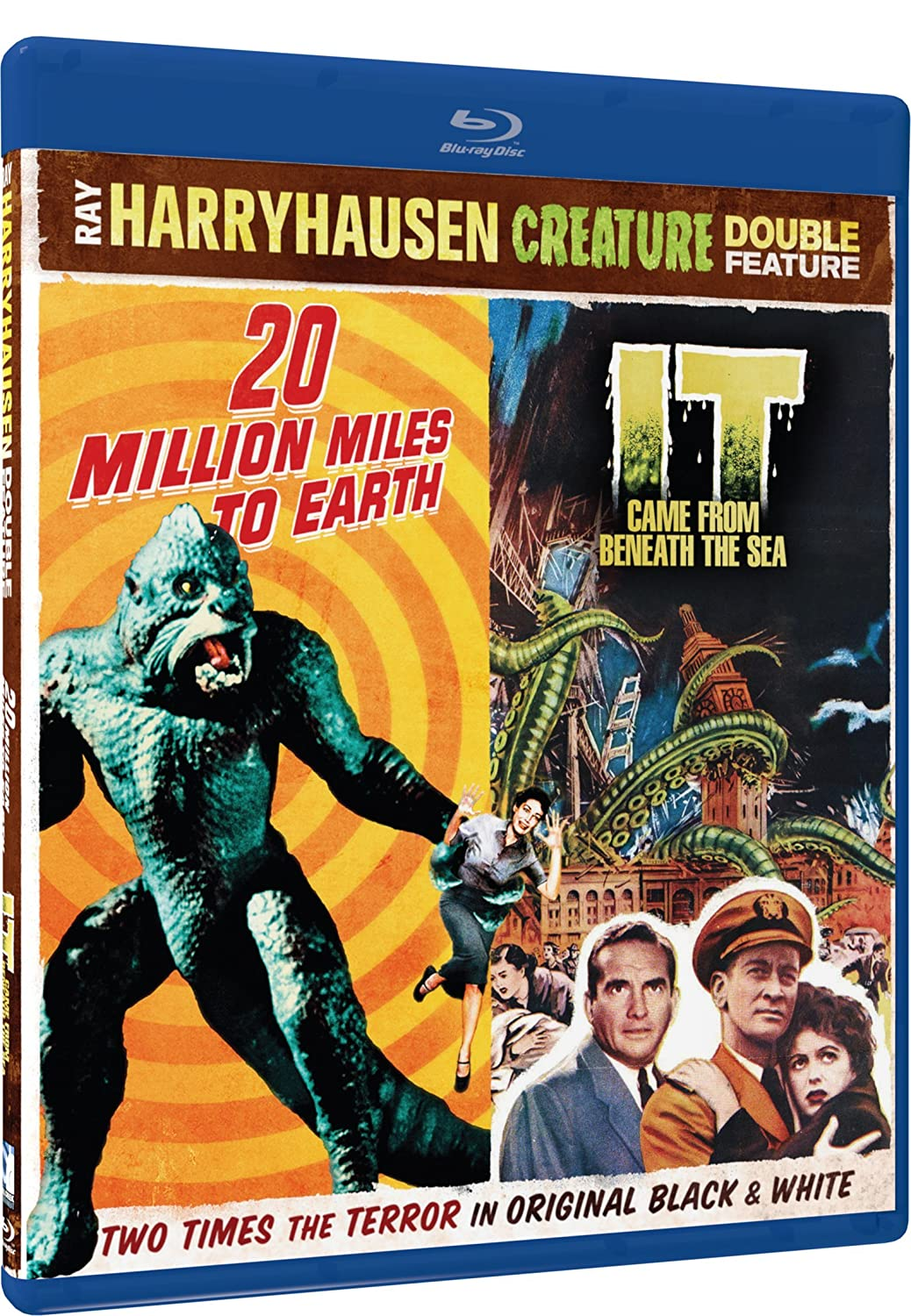 Amazon.com: 20 Million Miles To Earth / It Came From Beneath The Sea - Ray Harryhausen BD Double Feature [Blu-ray]: William Hopper, Joan Taylor, ...
