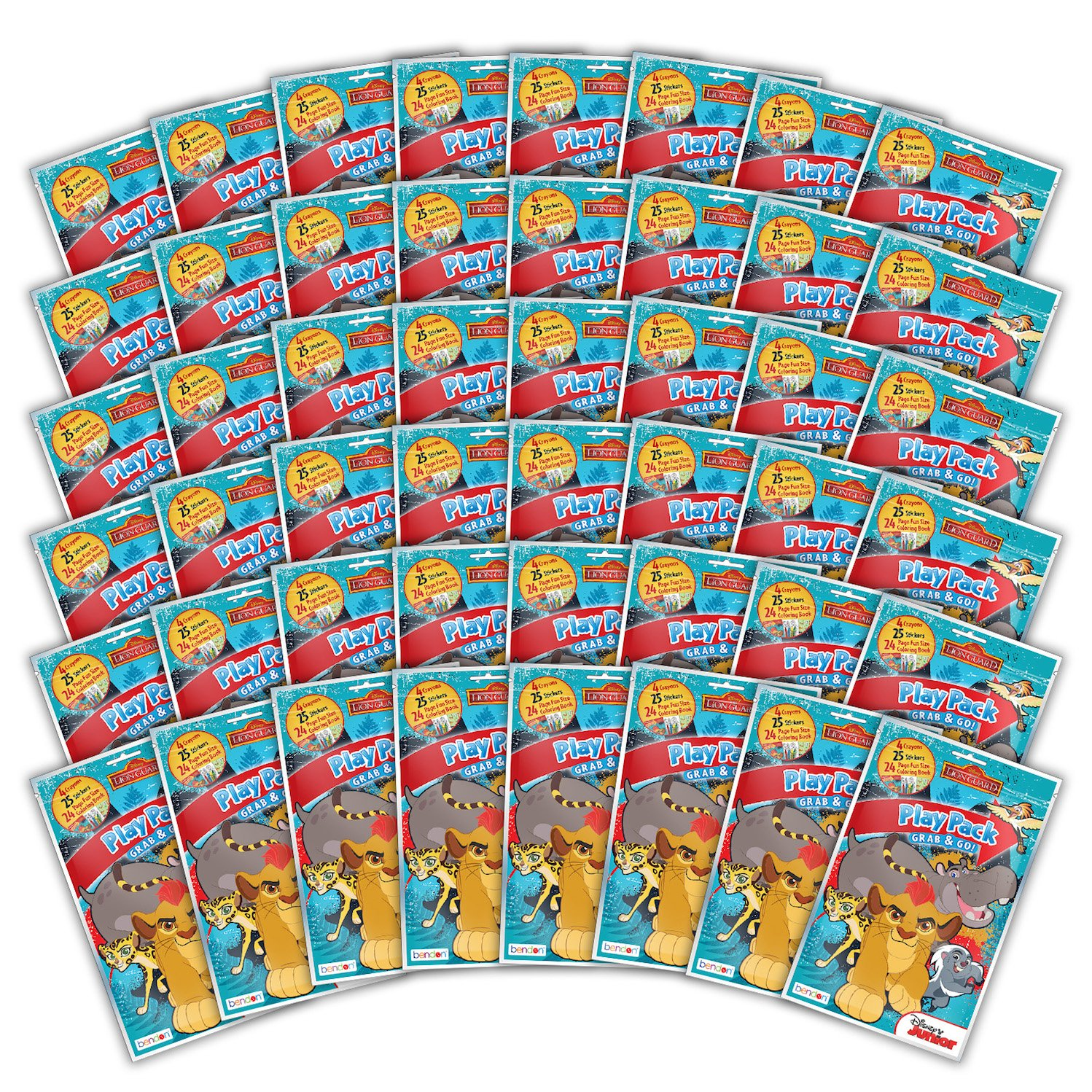 48-Count Bendon 42617-Amzb Lion Guard 24-Page Coloring Activity Play Pack