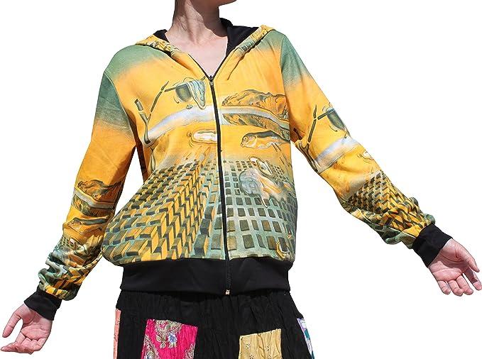 Jacket Hoody Sleeveless Raan Pah Muang RaanPahMuang Salvadore Dali Disintegration of Memory
