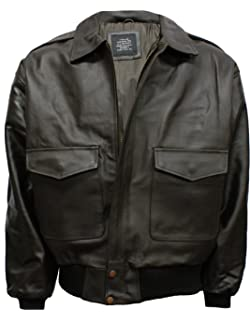 36b181796bb Infinity Men s A2 Brown Sheep Nappa Leather Bomber Jacket with ...