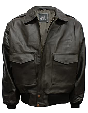A2 Leather Flight Jacket Brown  Amazon.co.uk  Clothing 6b7a1d4ce89