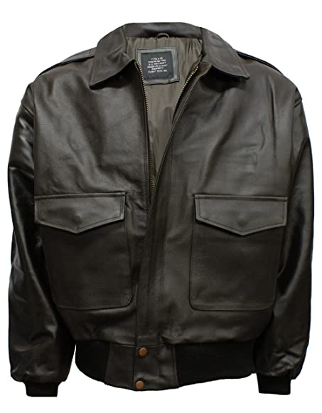 A2 Leather Flight Jacket: Amazon.co.uk: Clothing