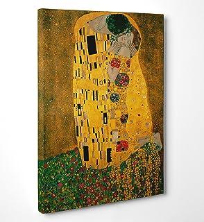 Niik Quadro + Telaio Il Bacio di Gustav Klimt, 60 x 60 x 1.7 cm ...
