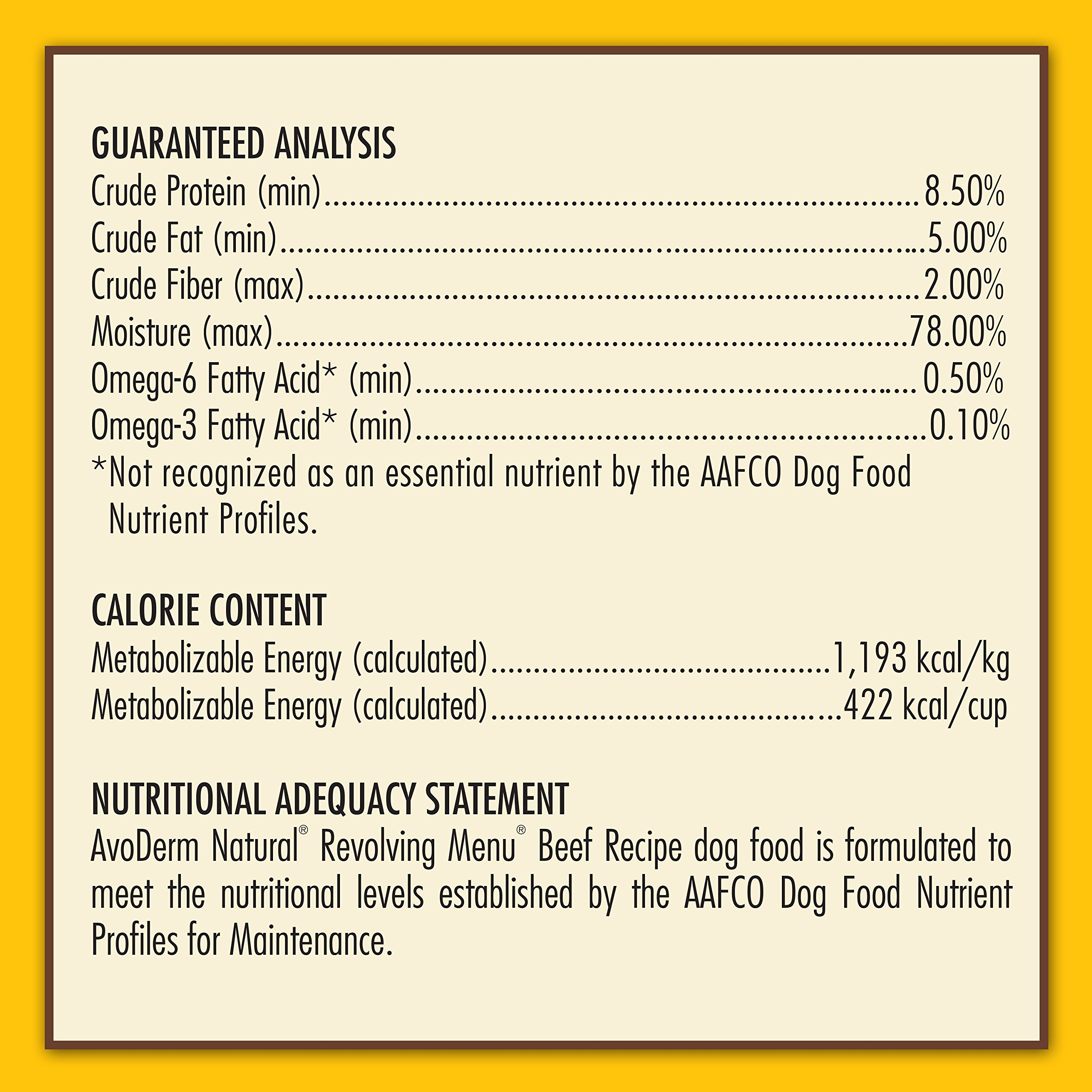 AvoDerm Natural Revolving Menu Beef Recipe Canned Wet Dog Food, 12.5-ounce cans, Case of 12. by AvoDerm (Image #7)