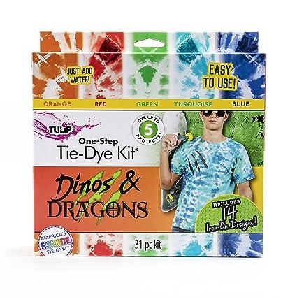960a3338e Amazon.com: Tulip one-step tie-dye Tie Dye Dino/Dragon Box Kit: Arts,  Crafts & Sewing