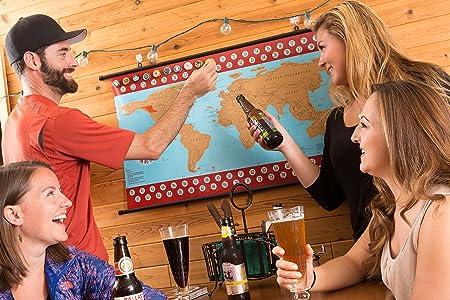 Map Scratch Fever Craft Beer Map Bundle, Cap, Guide 2015 Poster Hanger