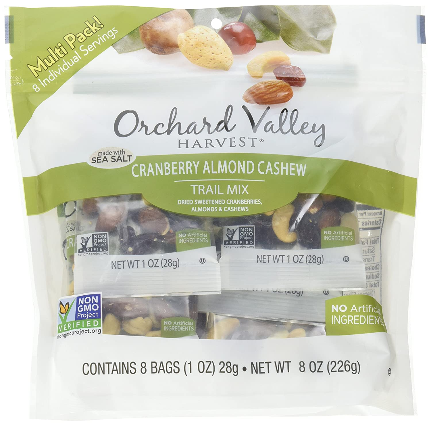 Orchard Valley Harvest, Trail Mix Cranberry Almond Cashew, 8 Ounce