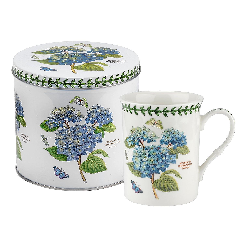 Botanic Garden tazza e metallo set-hydrangea motivo, porcellana, multicolore, 13x 13x 11.5cm Portmeirion BGJC8578-XW