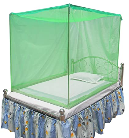 size 40 986a6 8571c HOMECUTE Polyester Single Bed Cotton Edge Traditional Mosquito Net (4x6 ft,  Green)