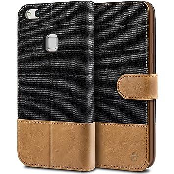 BEZ Funda Huawei P10 Lite, Carcasa Compatible para Huawei P10 Lite, Libro de Cuero con Tapas y Cartera, Cover Protectora con Ranura para Tarjetas y ...