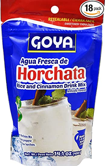 Goya Foods Horchata Rice And Cinnamon Drink Mix Pouch, 14.1 Ounce (Pack of 18