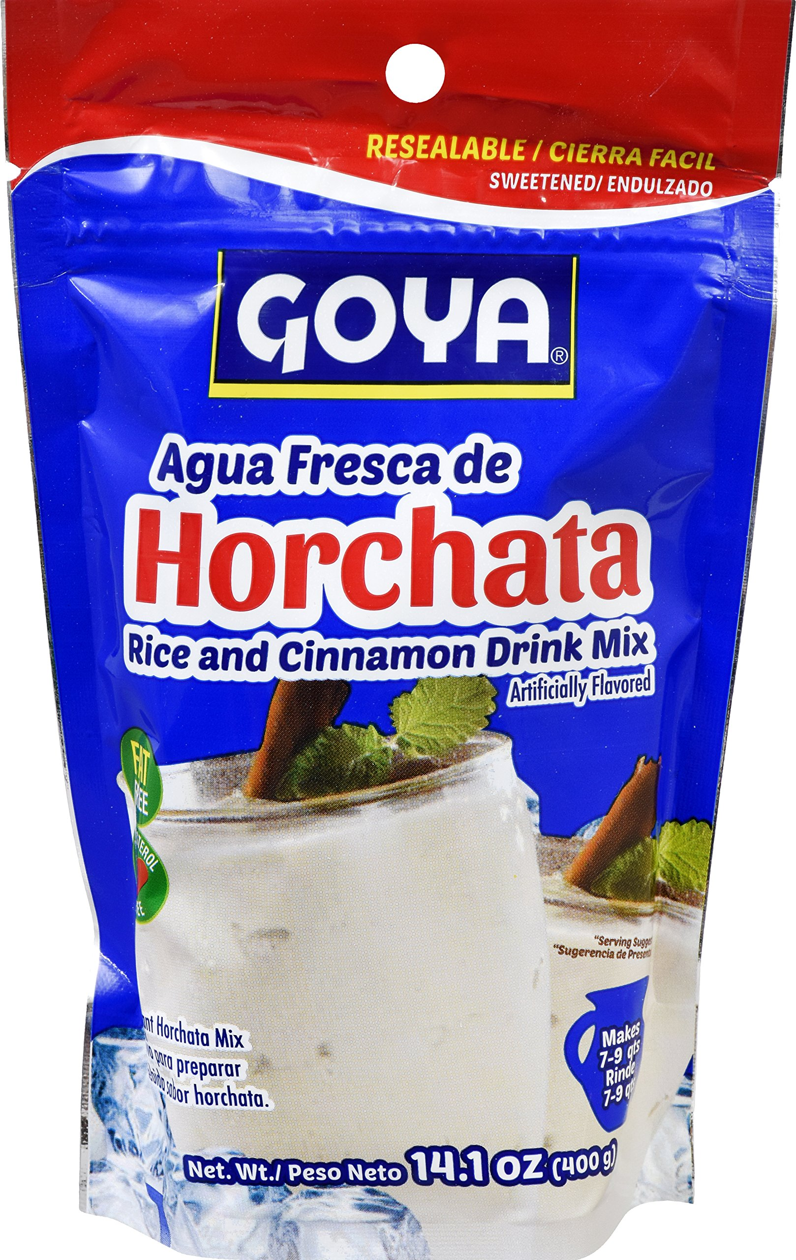 Goya Foods Horchata Rice And Cinnamon Drink Mix Pouch, 14.1 Ounce (Pack of 18)