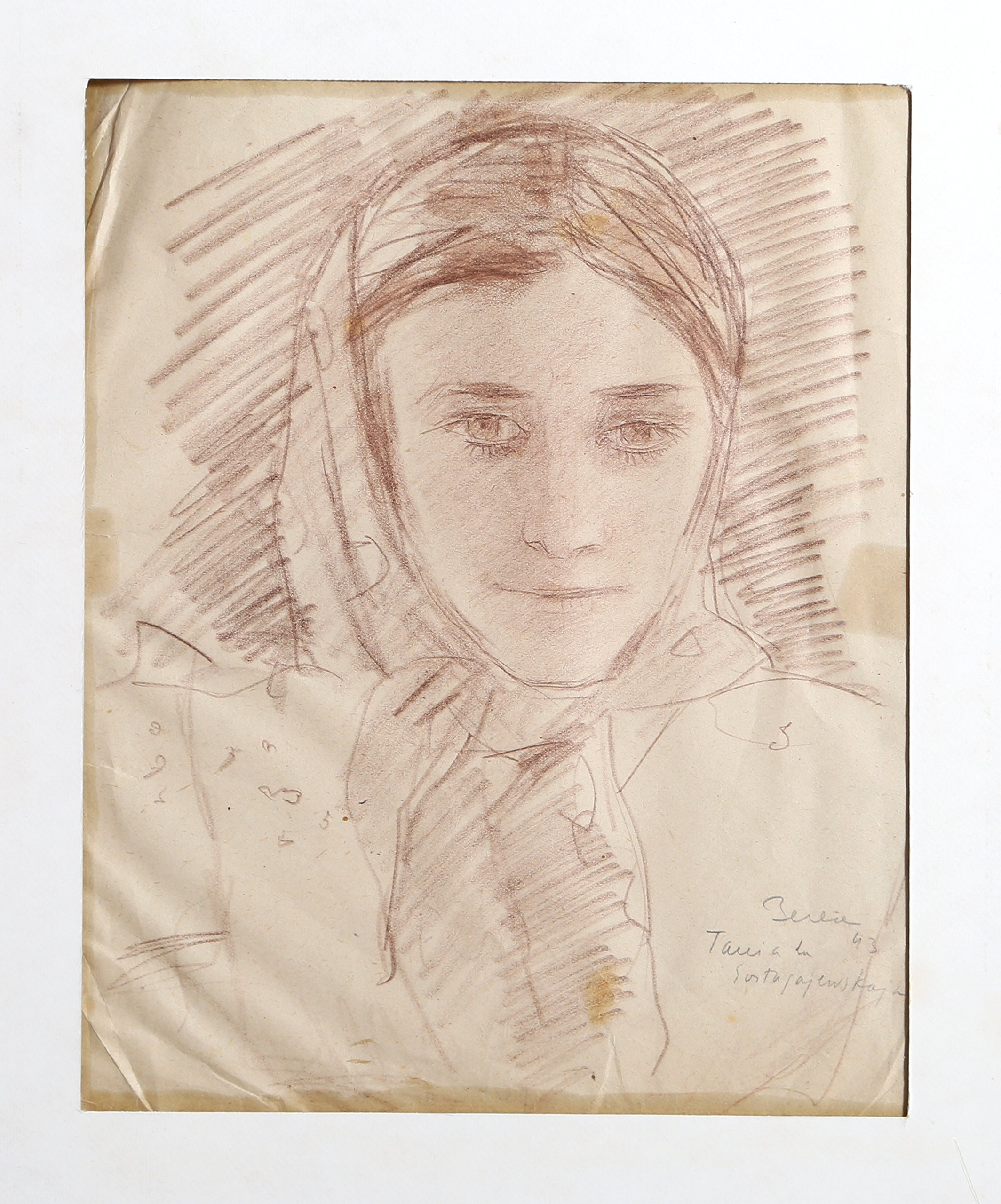 Portrait of a Girl with Scarf - 17