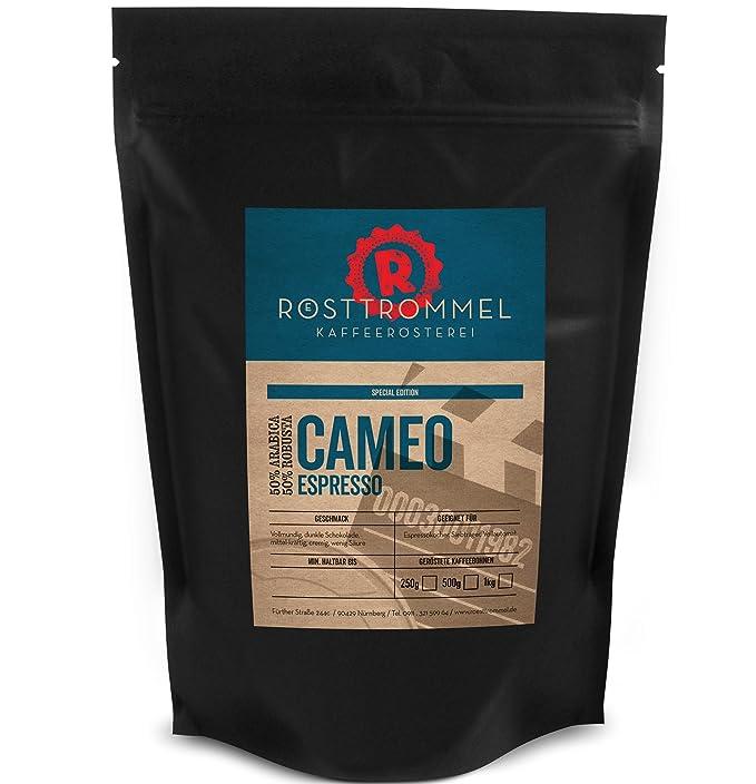 Granos de espresso CAMEO - edición especial - chocolate negro, de media resistencia, cremoso