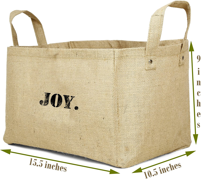 Cestas de almacenamiento hechas de yute para guardar juguetes y organizar el ropero del beb/é